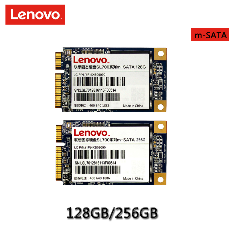 Original Lenovo SSD Internal Solid State Disk 256GB 128GB Hard Drive MSATA for Laptop Desktop PC цена