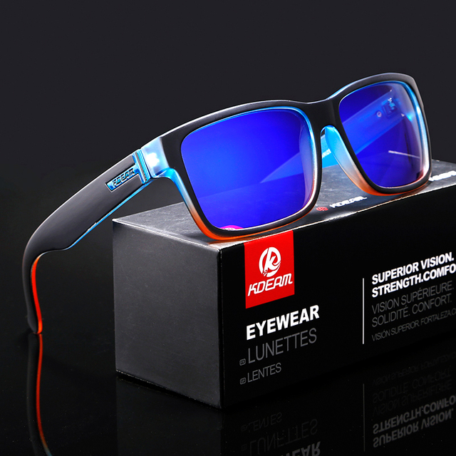 5ed45c94d Revamp Of Sport Men Sunglasses Polarized KDEAM Shockingly Colors Sun Glasses  Outdoor Elmore Style Sunglass With Box