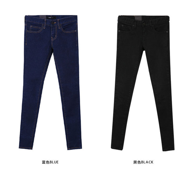 New jeans Washed Classic Elastic Trousers Ladies Slim Feet Pencil Pants Skinny Jeans Female