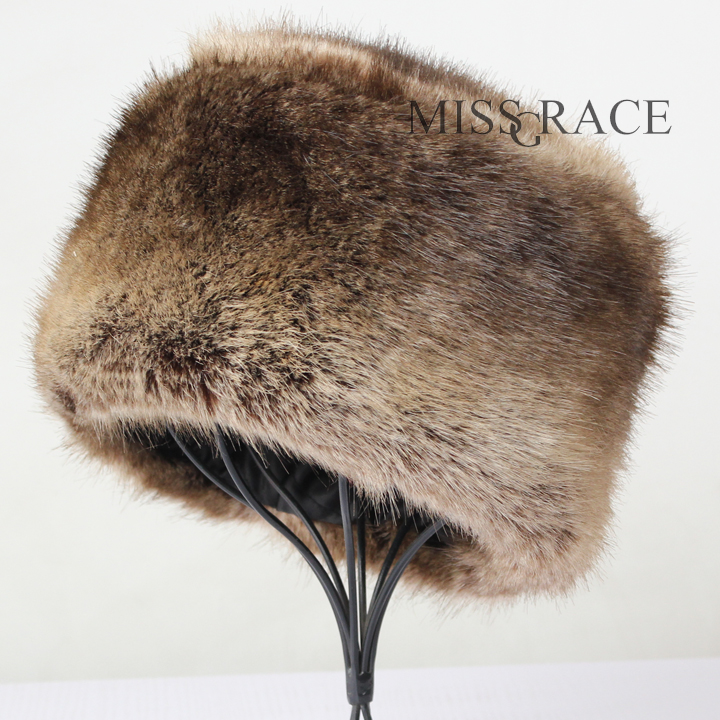 04ad6d58406 Fox fur faux fur hat leather pocket strawhat warm hat winter women s all  match snow cap -in Bomber Hats from Women s Clothing   Accessories on ...