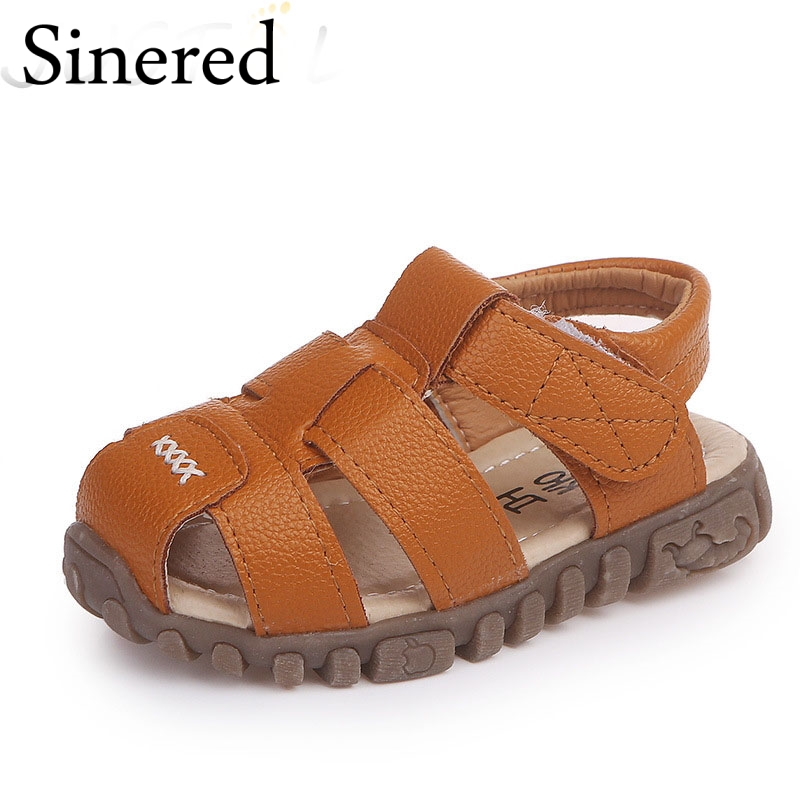 SINERED 2018 summer new childrens sandals kids breathable beach shoes baby boys girls non-slip casual sandals size 21-36