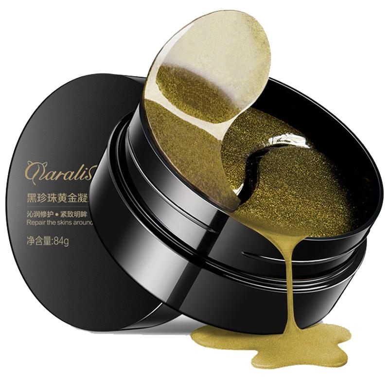 Daralis Eye Mask Skin Care 60PCS Black Pearl Gel Mask Collagen Crystal Eye Mask Patch Dark circle Eyelid Anti-Wrinkle Moisture