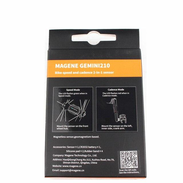 Velocímetro de ordenador MAGENE ANT + velocidad y cadencia sensor Dual bicicleta velocidad y cadencia ant + adecuado para GARMIN iGPSPORT bryton