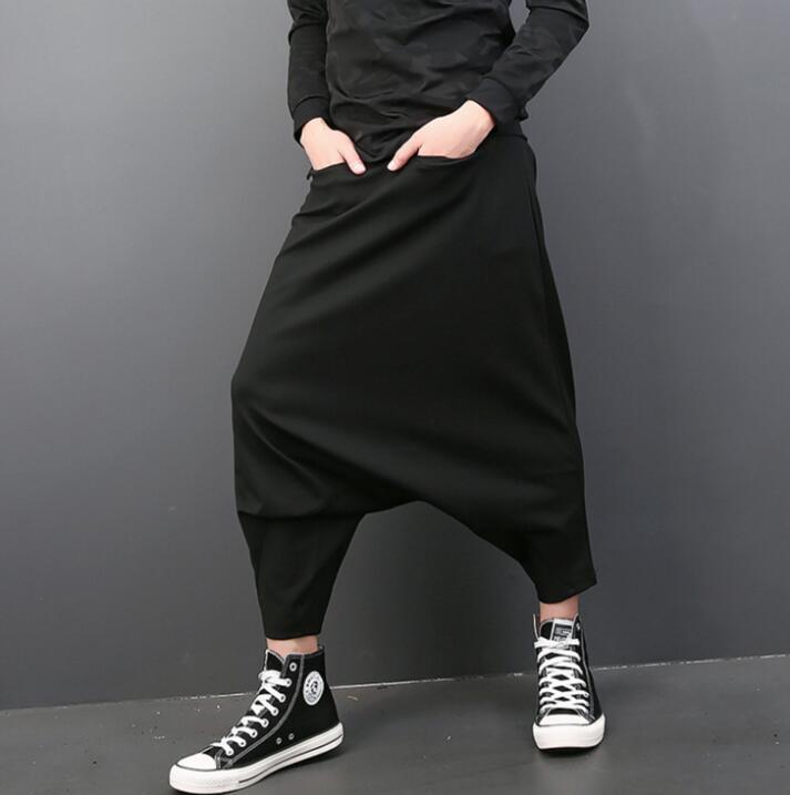 Осень Свободные певица личности модные шаровары мужские Брюки Хомбре Брюки-Карго Облегающие штаны для мужчин мужские панталоны