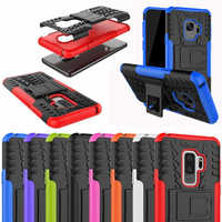 For Samsung Galaxy S9 S10 Plus Rugged Armor Hybird Silicone Cover For S8 S10 E A6 A7 A8 A9 J4 J6 2018 M10 M20 Case Note 8 9