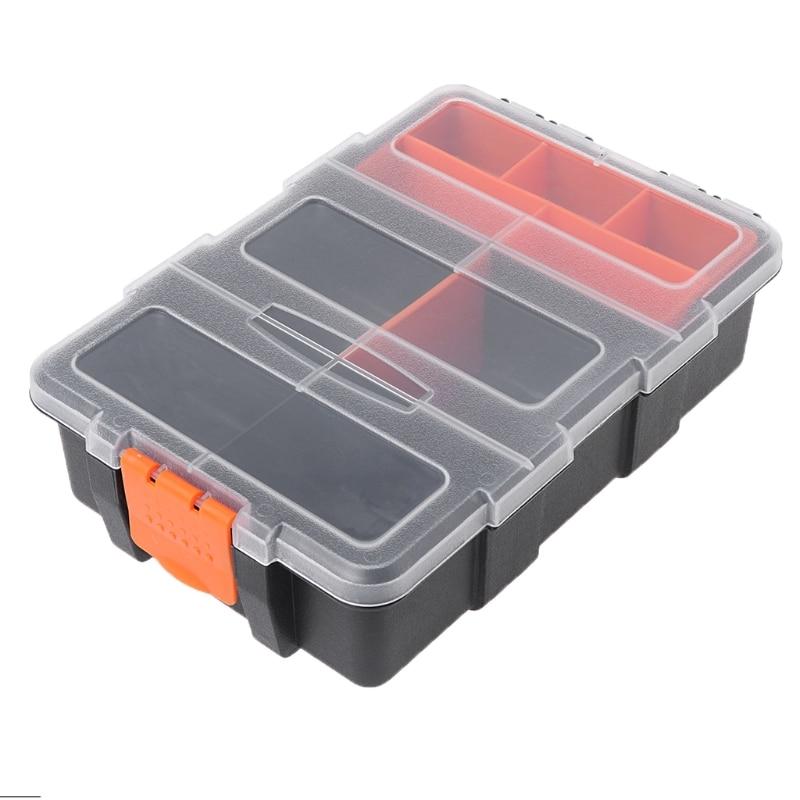 Hardware Box Transparent Multifunctional Storage Tool Case Plastic Organizer #Aug.26