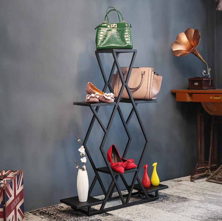 Tieyi витрина посылка стойка, ретро магазин одежды обуви крышка потока стол дизайн и расположение шкаф - 3