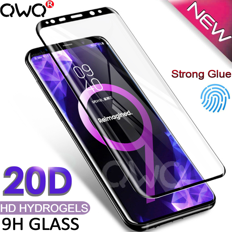 20D Curved Tempered Glass For Samsung Galaxy S8 S9 S10 Plus Note 9 8 A7 2018 Screen Protector For Samsung A50 A70 S10E + 5G Film(China)
