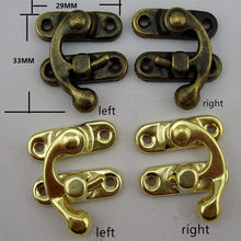 Retail Lock Box Suitcase Toggle Latch Buckles,Sewing Bag Clasp for Closure Box Chest,Suitcase Bag Case Lock,29x33mm,1Set(China)