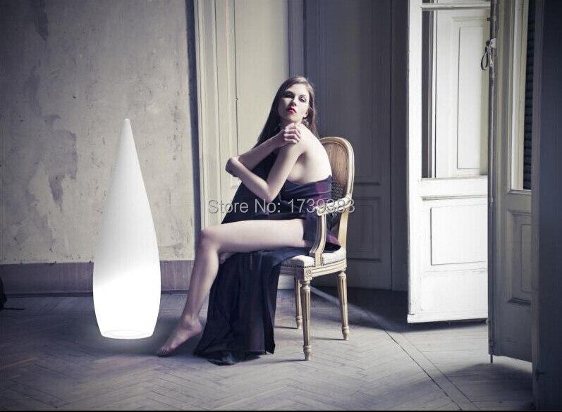 LED rosée fusée/bambou pousses lampe colorée télécommande rechargeable LED grande goutte d'eau lumière extérieure couloir décoration