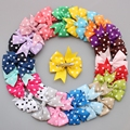 30pcs Hand Make Baby Hair Clips Solid Dot Leopard Print Bow Hairpin Hair Clips for Baby Girls Kids Hair Accessories