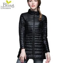 Plus Size Snow Winter Jacket Women Fashion Women's 90 % White Duck Down Jackets Ultra Light Zipper Coats Slim Outwear Parka