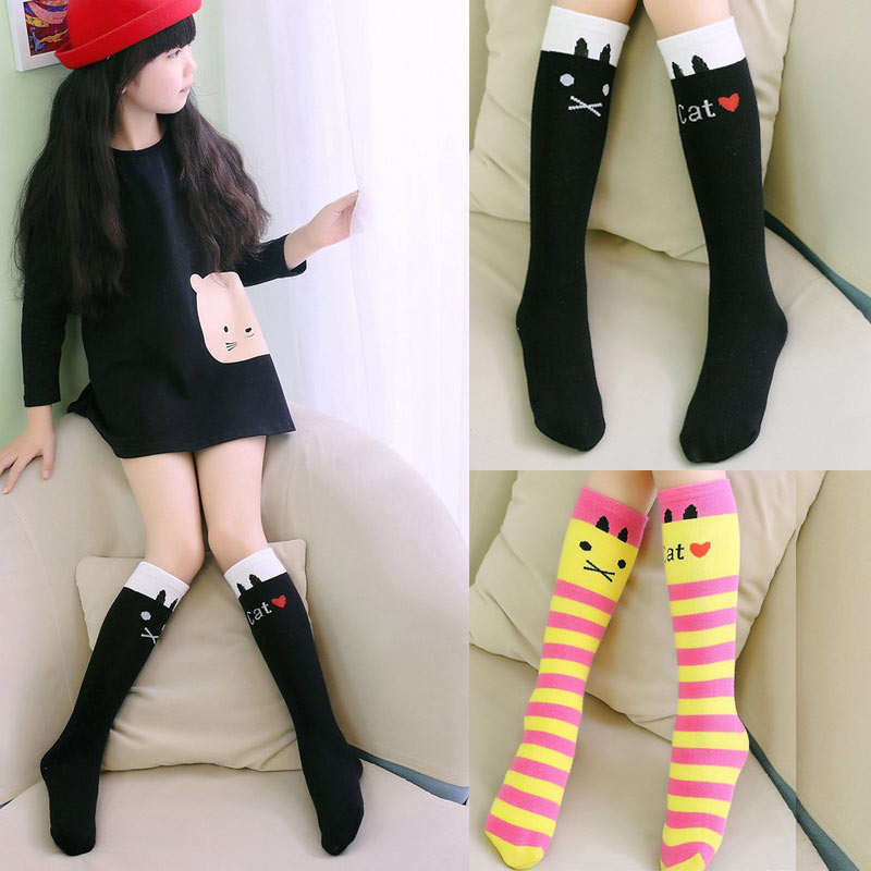 For Age3-12 Baby Kids Toddlers Girls Knee High Socks Tights Leg Warmer Stockings