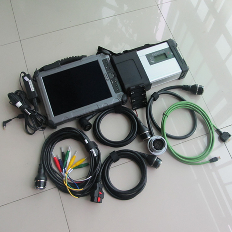 mb star c5 with Rugged Tablet Best quality for Xplore Ix104 Tablet I7&4g Diagnostic Laptop installed well ready to use