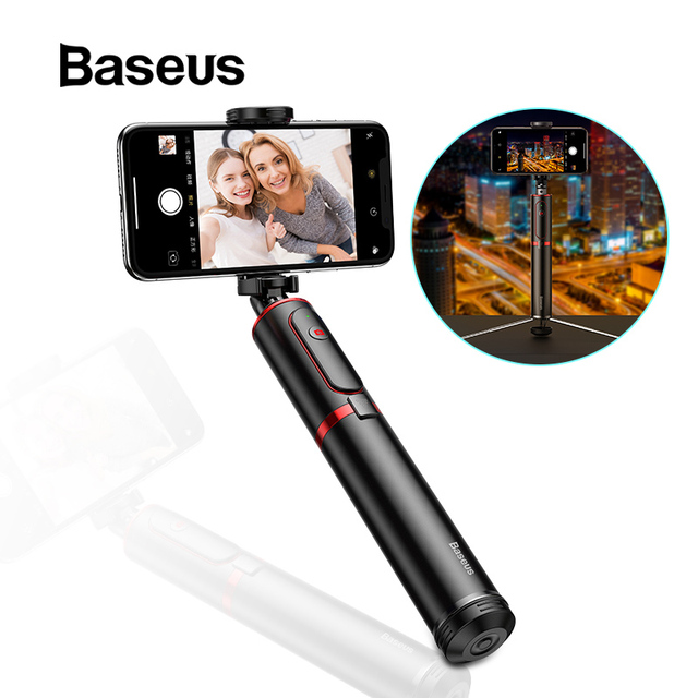 Baseus Không Dây Bluetooth selfie Stick với Nối Dài Monopod Từ Xa selfie Gậy Tripod cho iPhone Oneplus Huawei palo selfie