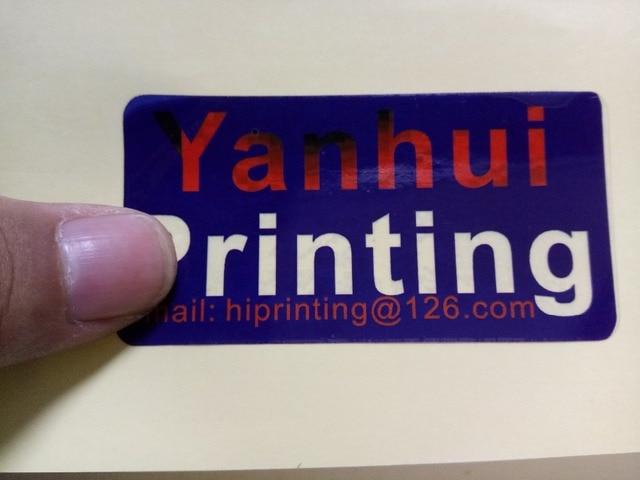 15x13 5cm glossy paper sticker printing die cut glossy film laminated