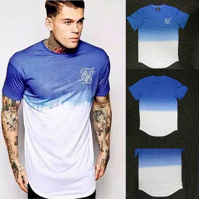 c02d3512e2a Mens big tall Clothing designer citi trends Clothes T shirt Extended Tee  Shirt Hi-Street Men Curved Hem Top Tee Homme male Blue