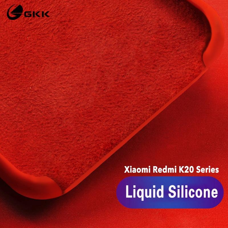 GKK Original For Xiaomi Redmi K20 Pro Case Liquid Silicone Silky Soft Baby-Skin Touch Protective Cover For Redmi 9T Case Fundas