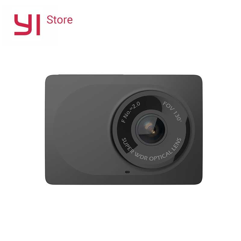 YI компактный Камера 1080P Full HD автомобиля Cam Регистраторы шахматная доска с 2,7 дюймов ЖК-дисплей Экран 130 WDR Объектив G-Сенсор Ночное видение чер...