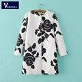 Vangull Европа ветер Весна осень новая мода досуга пальто тиснением розы длинные пиджаки пальто женский Теплый плащ пальто
