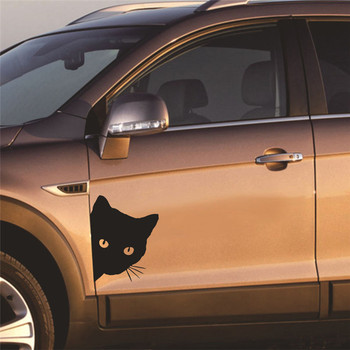 1PCS Car Stickers Peek Cat Face Decal Car Door Sticker Car Motorcycle Decoration Carved Reflective Material Car Accessories