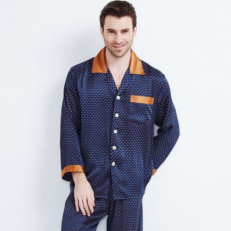 Homewear-Sets Sleepwear Heavy-Silk Male Men's Luxury Brand