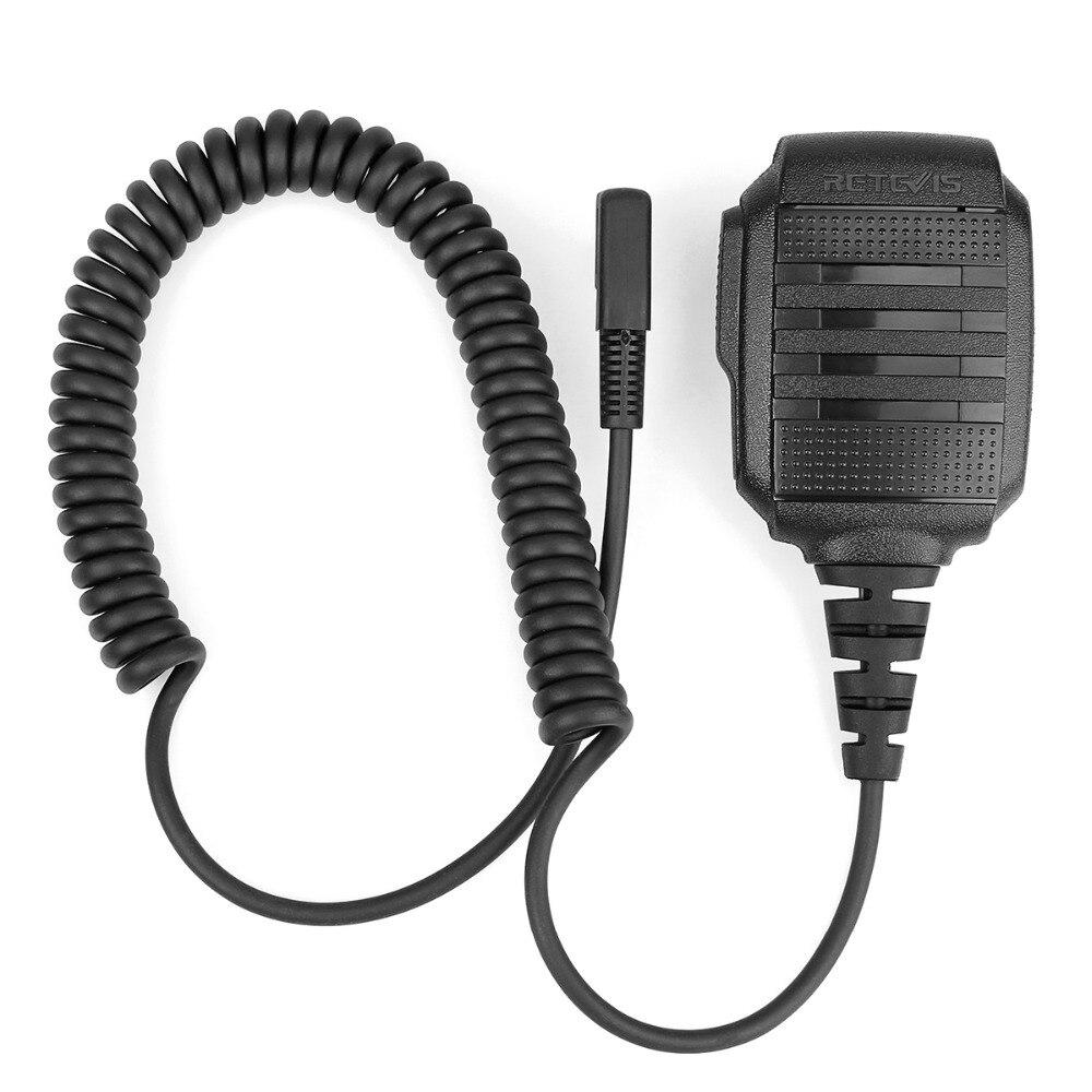 Image 2 - 10 pcs Wholesale RS 114 IP54 Waterproof Speaker Microphone For Kenwood RETEVIS H777 RT3 RT22 RT81 Baofeng UV 5R Walkie Talkie-in Walkie Talkie from Cellphones & Telecommunications