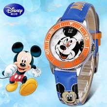 100% genuino 2017 marca reloj de los niños para niños de dibujos animados de disney mickey relojes de pulsera hombres reloj militar relogio del reloj de regalo de navidad