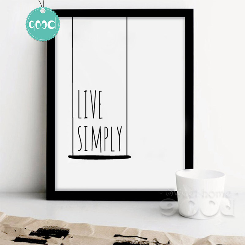 Buy simple life quote canvas art print for New home decor products