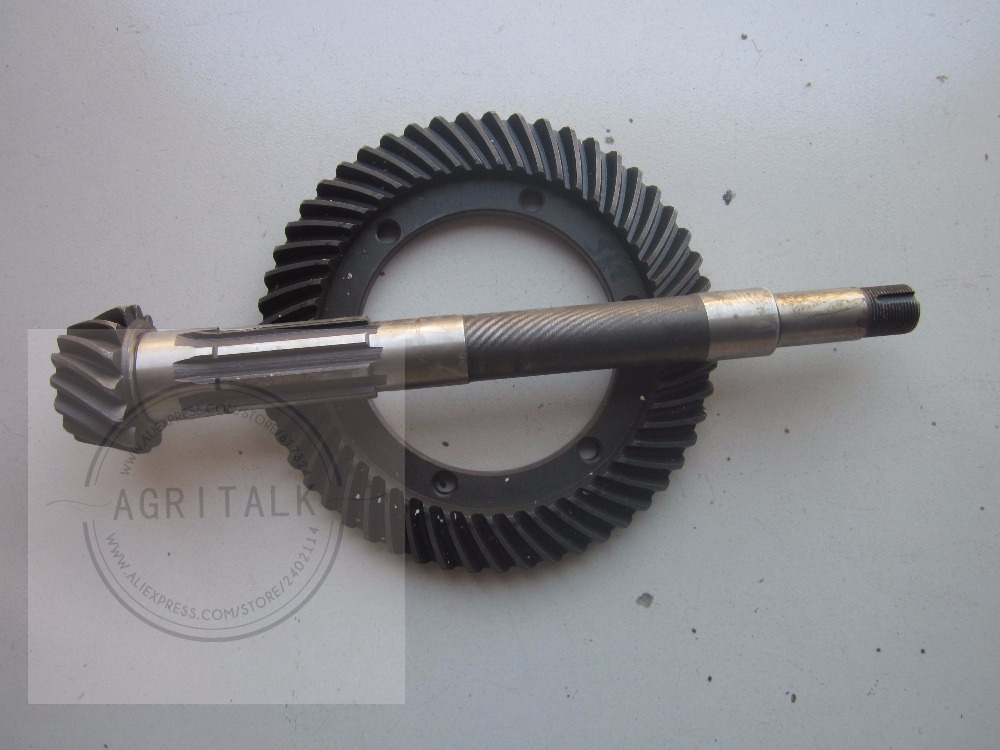 Shenniu SN250 SN254 SN304 tractor parts, the set of spiral bevel gear with shaft, part number: 25.37.180+25.37.101 shenniu tractor parts the crankshaft of shenniu 250 254 with engine hb295t part number 295 05001 b
