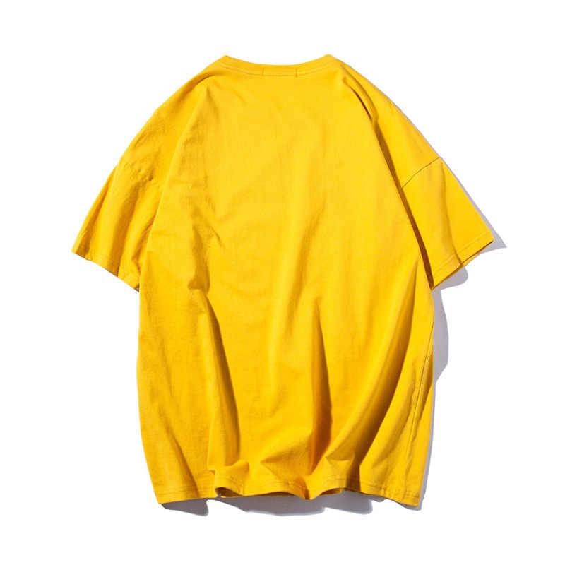 빈티지 블랙 티셔츠 남자 미국 크기 패션 무거운 씻어 T 셔츠 남성 슬림 맞는 O 넥 탑 티즈 남성 짧은 소매