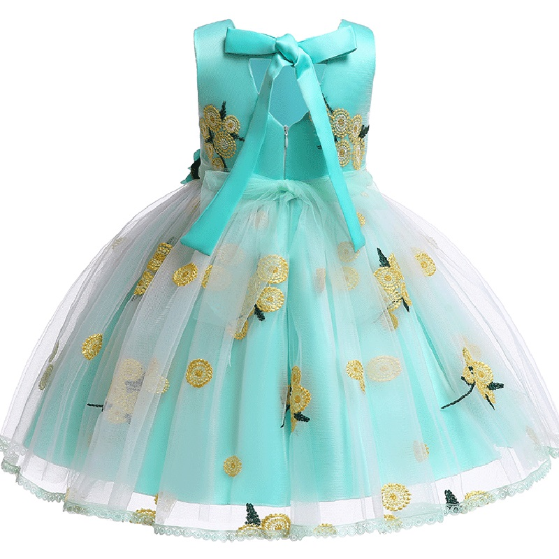 Elegant Flower Girl Wedding Party Dinner Printed Dresses Girl's First Performance Dress For Eucharist Party Vestidos De Fiesta