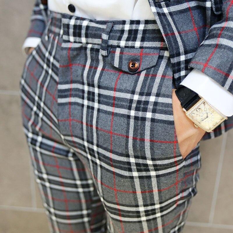 Online Shop Hot sale 2015 plaid pants for men trousers men slacks ...
