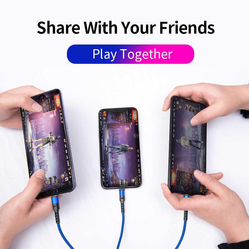 Power4 3in1 usb ケーブル急速充電器のための雷 usb タイプ c ユニバーサル携帯電話ケーブル iphone サムスンコード