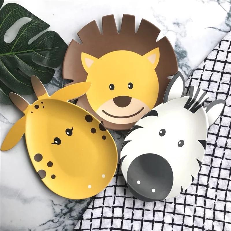 6pcs / set kreatif yang popular kreatif melamine pinggan mangkuk - Memakan kanak-kanak - Foto 3