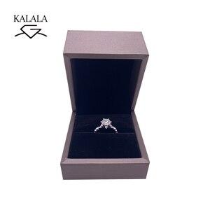 Image 4 - 925 סטרלינג כסף טבעת 1ct 2ct 3ct יהלום ליטוש עגולה תכשיטי Moissanite טבעת אירוסין טבעת יום נישואים טבעת
