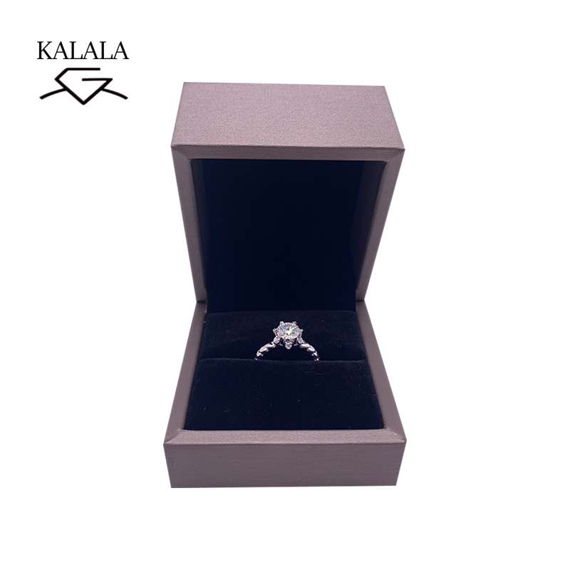 925 sterling silver Ring 1ct 2ct 3ct Round Brilliant Cut Diamond jewelry Moissanite ring Engagement Ring Anniversary Ring in Rings from Jewelry Accessories