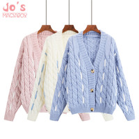 Harajuku Cardigan Sweater Women Cashmere Female Cardigan Knitting Sweater Long Sleeve Winter Streetwear Pink White Casual
