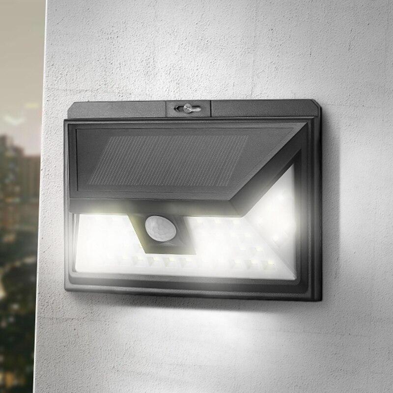 44 LED Solar Licht Im Freien Wasserdichte PIR Bewegungssensor Solar Power LED Wandleuchte Solar Notfall-lampe Pathway Decor