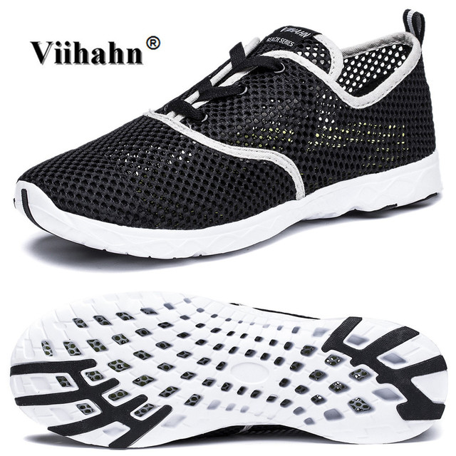 Women's Breathable Mesh Lace Up Quick Drying Aqua Water Shoes