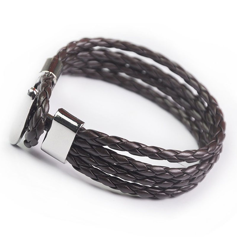 Braided Leather Rope Bracelet