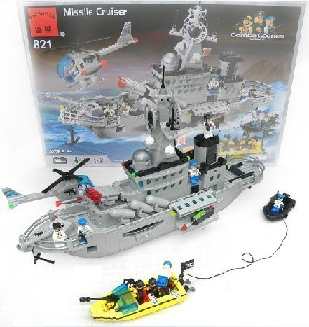 model building kits compatible with lego city warship 603 3D blocks Educational model & building toys hobbies for children