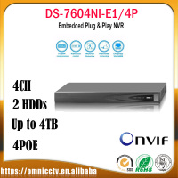 Hikvision CCTV 4CH POE NVR DS 7604NI E1 4P H 265 For IP Camera Onvif HDMI