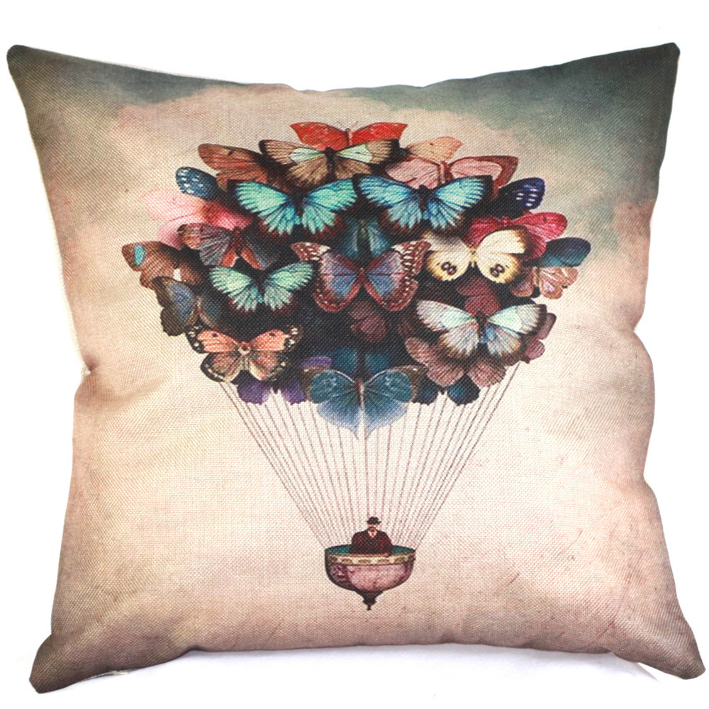 Hot Style Fly Men Butterfly Decorative Throw Pillows Comfortable Cushion Cover Can be Custom Cushion Covers for Sofa