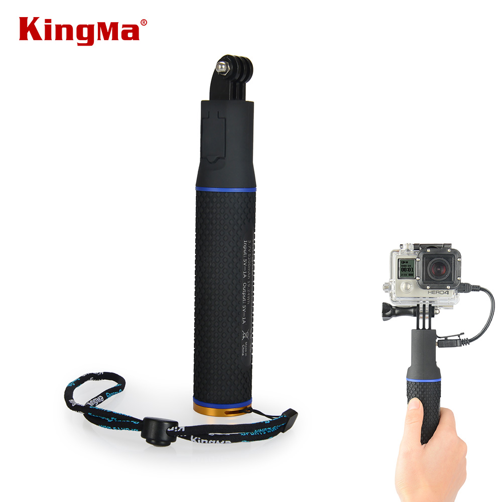 Image 2 - KingMa Handheld Power Hand Grip Portable Rechargeable Holder Handle Charger for Mobile Phone GoPro session4/3/3+ XiaoMi Camera-in Sports Camcorder Cases from Consumer Electronics