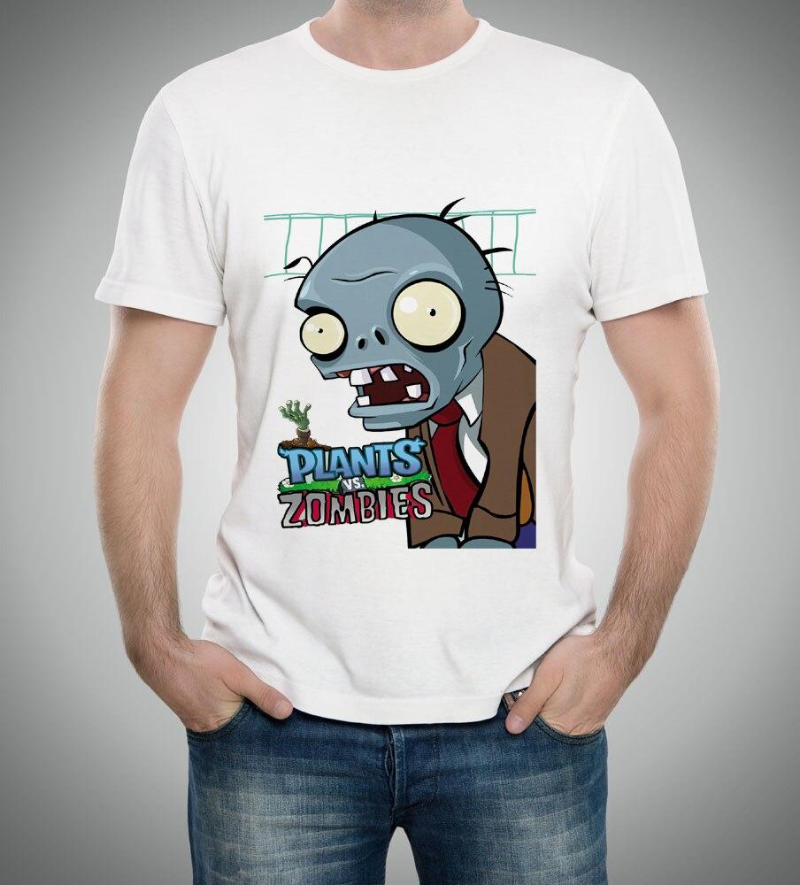 2018 new plants vs zombies tee men shirt boy/girl t-shirt cartoon sleeve t-shirt spring&autumn basic shirt 55-8#
