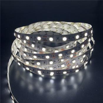 цена на 5M RGB LED Strip LightDC12V 2835 5050 300led SMD Ribbon Tape Home Decoration Lamp For Ceiling Counter Cabinet Light waterproof