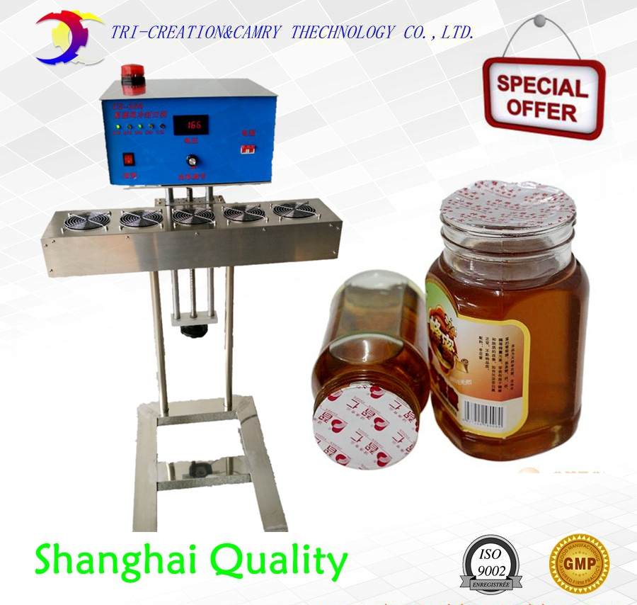 automatic foil film induction machine with rejector,online air cooling foil bottle sealer,aluminum film sealing machinery automatic induction type ionizing air snake