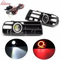 1 Pair 2Pcs LED Fog Light Lamp Front Bumper Grille For VW Golf MK4 98 04