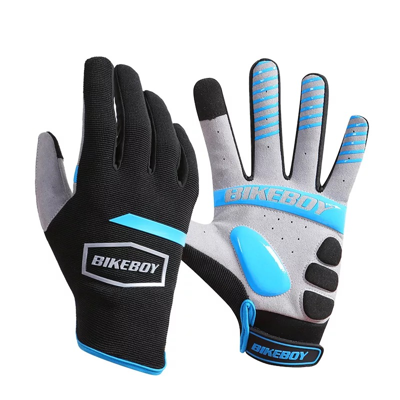 Spring Full Finger Touch Screen Bicycle Gloves MTB Sport Shockproof Cycling Gloves GEL Liquid Shock
